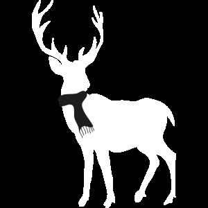 Weisser Hirsch mit Schal