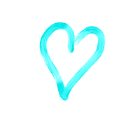 Herzdesign türkis