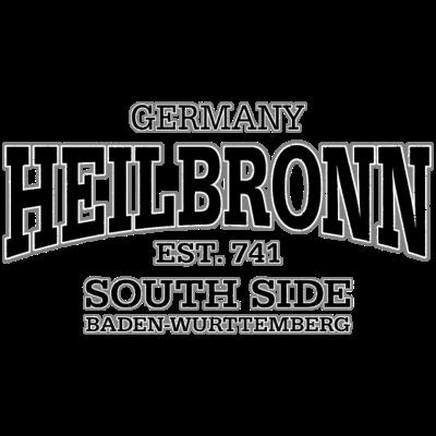 Heilbronn (black oldstyle) - Heilbronn - Baden-Wurttemberg - Established 741 - South Side. Das internationale Shirt-Motiv für jeden Heilbronn-Fan (in weiß, schwarz und oldstyle erhältlich). - deutschland,Wein,Unterland,Stuttgart,Stadtmitte,Neckar,Innenstadt,Heilbronn,Germany,Deutschland,Baden-Württemberg