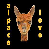 Alpaka Alpaca Liebe gelb Tier Geschenkidee Lama