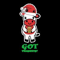 Erhaltene Geschenke - Weihnachtskalb / Kuh