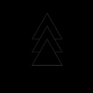 Drei Dreiecke Polygon Pfeile Berge