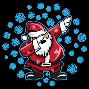 Weihnachtsmann Dabbing Santa Dab Schneefall Xmas