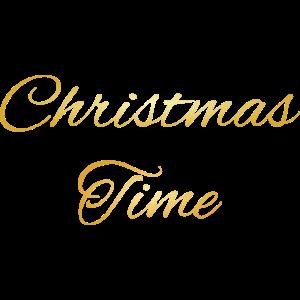 Christmas Time goldene schreib Schrift Geschenkide