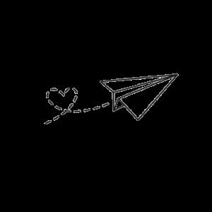 Papierflieger - Liebe
