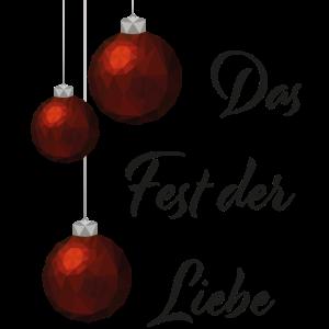 Das Fest der Liebe Polygon Weihnachten Geschenk