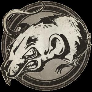 Wilde Ratte Grunge Tier