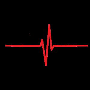 Lebensretter EKG Design - schwarze Schrift
