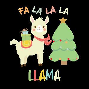 FA LA LA LA LLAMA FUNNY CHRISTMAS