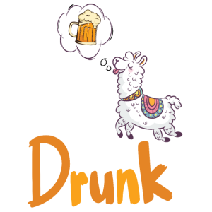 Llama get drunk