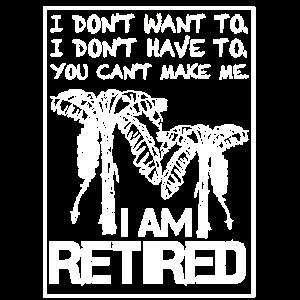 Pensioniert Rentner Geschenk Pensionierung Palmen