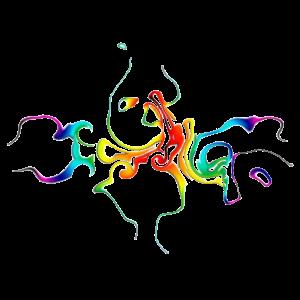 Abstrakt - farbenfreudiges Farbenspiel