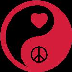 Ying Yang / Peace (Frieden) / Heart (Herz) 1c