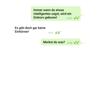Einhorn Chat mit Intelligenz