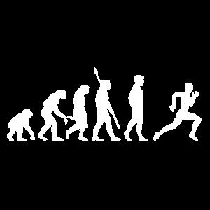 Laufen Evolution - Rennen Sprinten Marathon