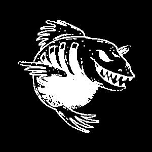 Fische bösartiger Fisch springt aus dem Wasser