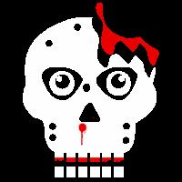 Totenkopf mit Blut