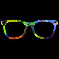 Geometrische Hornbrille