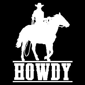 Cowboy Howdy Horse Rider Pferdeliebhaber Rodeo