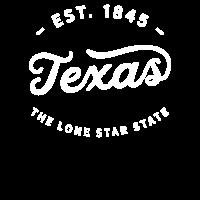 Texas Lone Star State Klassiker Vintage Retro Est