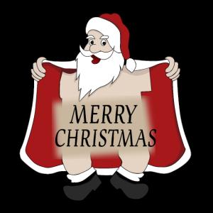 Merry Christmas - Nackter Weihnachtsmann