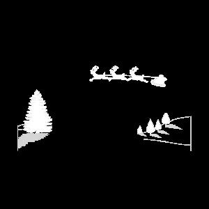 Weihnachtsmann Rentiere Schlitten