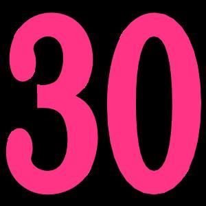 30 . Geburtstag