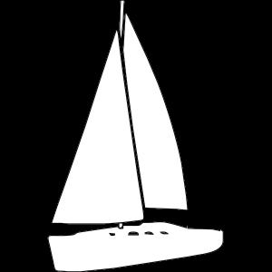 Segelyacht Weiss