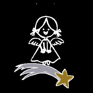 engel mit sternschnuppe