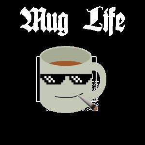 Mug Life Tassen Motiv Schwarz