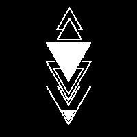 Minimalistische Dreiecke polygon Design Arrows