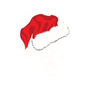 Schaedel mit Weihnachtsmuetze T shirt