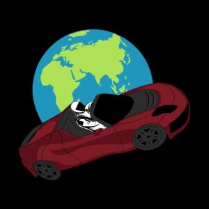 Tesla im Weltall - SpaceX inspiriertes Design