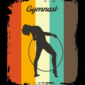 Retro Rhythmic Hoop Geschenk der Gymnastik Retro 70er