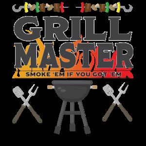 Grill BBQ Lustiges Design - Grillmeister
