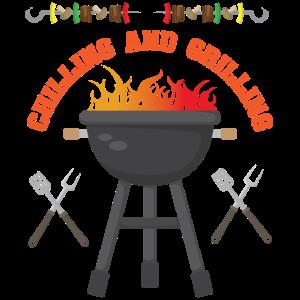 Grill BBQ Funny Design - Kühlen und Grillen