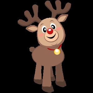 Süßes Rentier Baby Elch Rudolf Weihnachten