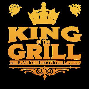 Grill BBQ Lustiger Entwurf - König des Grills