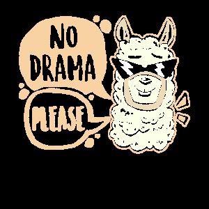 Drama Lama Spruch Tier Lustig Geschenk Idee