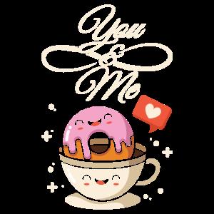 Donut Kaffee Liebe Essen Love Geschenk Idee