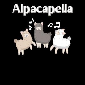 Alpaka Lama Viele lustig Geschenk Alpapacapella