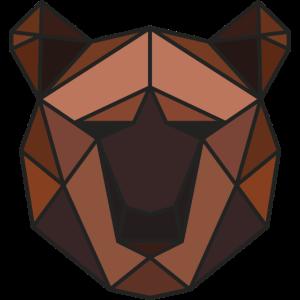 lowpoly bär | grafik tier dreiecke polygone