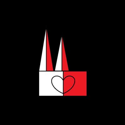 koeln Dom - Dom Koeln - weiß,rot,ohne Ende,liebe,koeln,dom,Ohne