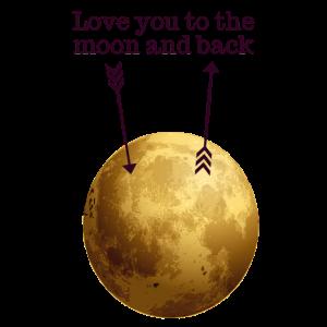 Ich liebe dich, einmal zum Mond hin und zurück!
