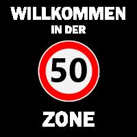 50. Geburtstag 50er Fünfzigster 30 Zone Geschenk
