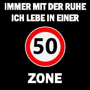 50 Jahre Alt 50er Zone Geburtstag Spruch Geschenk