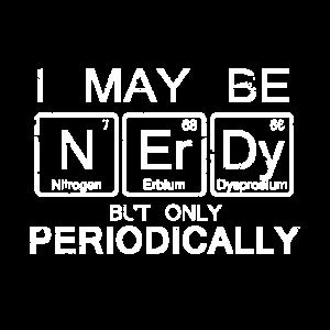 Nerdy Periodensystem Wissenschaft Shirt