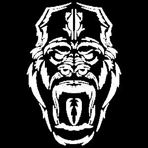 Gorilla Affe Affenmensch Primat Tribal Geschenk