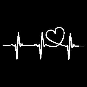 EKG Herz Love | Perfekte Geschenkidee Valentinstag