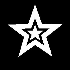 Kunstvoller Stern - Attraktives Shirt